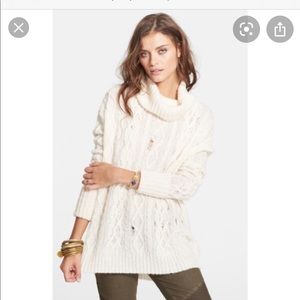 Free People Complex Pullover. Ivory. Size small